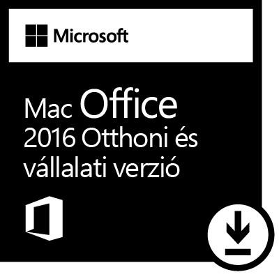 Microsoft Office 2016 MAC Otthoni és kisvállalati verzió elektronikus licensz (Letölthető)